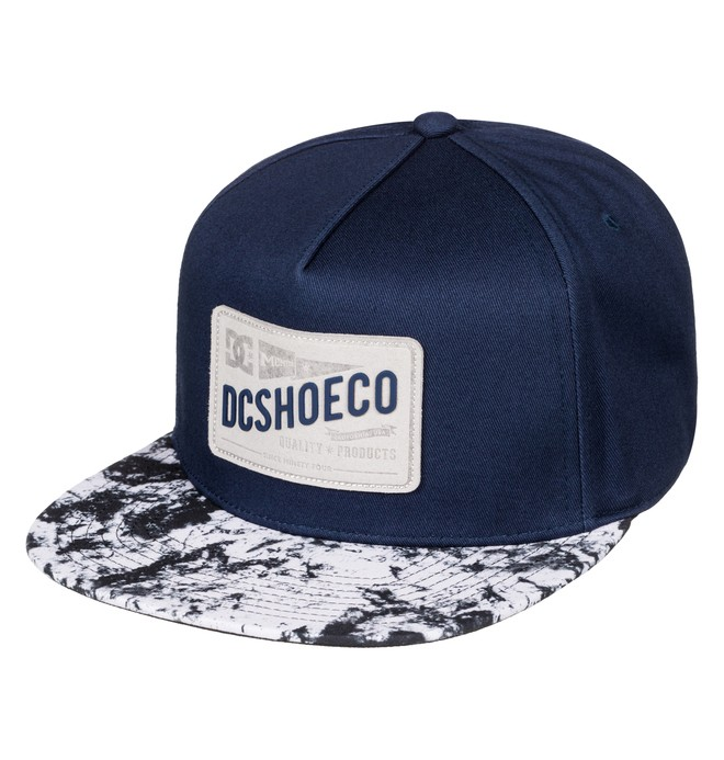 0 Men's Leatherstan Snapback Hat Blue ADYHA03427 DC Shoes