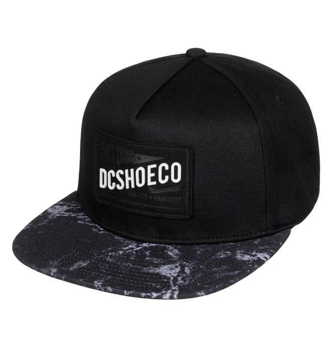 0 Men's Leatherstan Snapback Hat Black ADYHA03427 DC Shoes