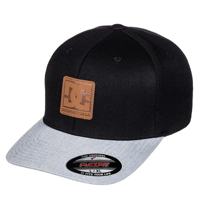 0 Men's Carvin Flex Flexfit Hat Black ADYHA03429 DC Shoes
