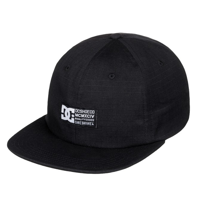 0 Men's Seargy Snapback Hat Black ADYHA03431 DC Shoes