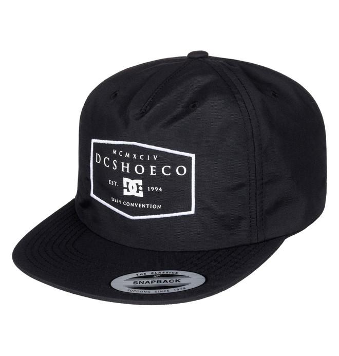 0 Men's Spidal Snapback Hat Black ADYHA03434 DC Shoes
