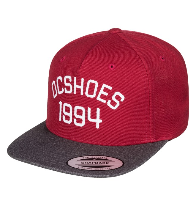 0 Men's Fellis Snapback Hat Red ADYHA03437 DC Shoes
