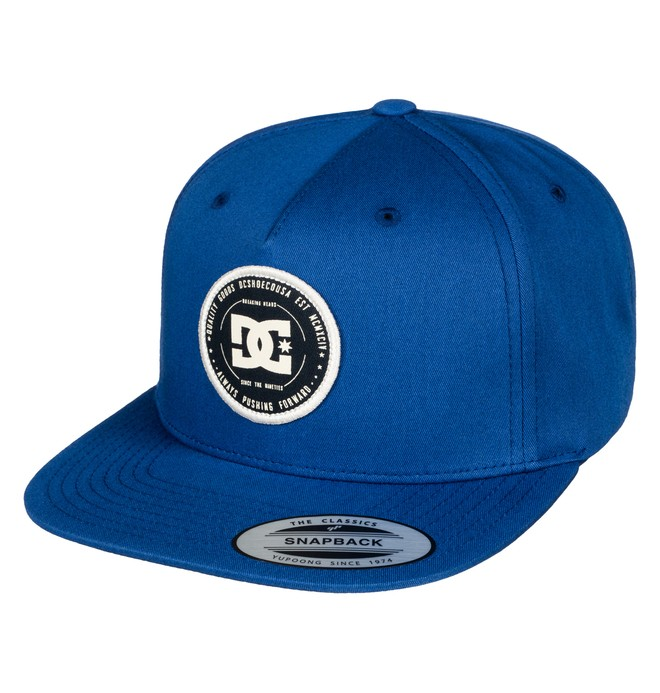 0 Men's Rebuilter Snapback Hat Blue ADYHA03448 DC Shoes