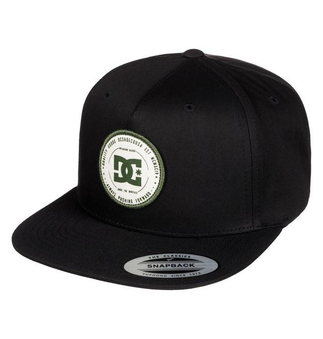 0 Men's Rebuilter Snapback Hat Black ADYHA03448 DC Shoes