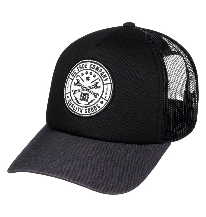 0 Men's Balarny Trucker Hat Black ADYHA03452 DC Shoes
