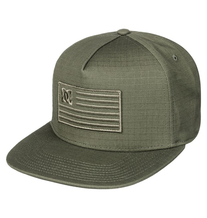 0 Men's Flagman Snapback Hat Brown ADYHA03516 DC Shoes