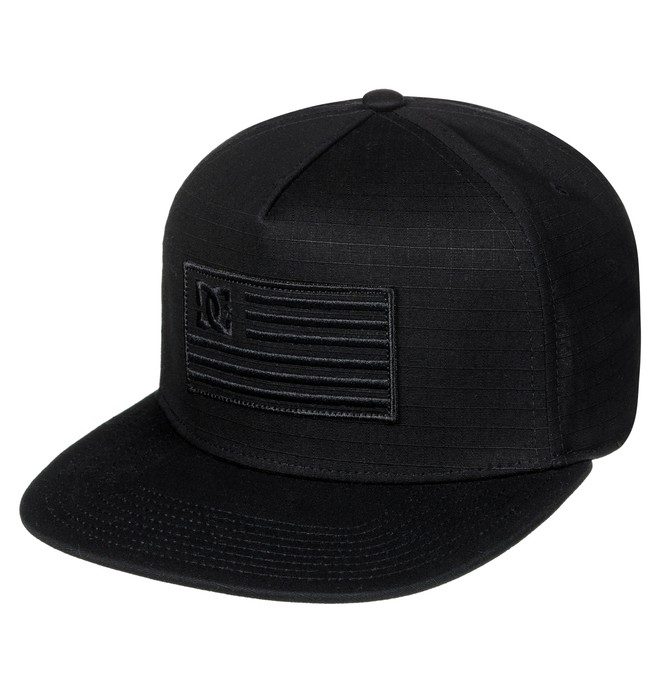 0 Men's Flagman Snapback Hat Black ADYHA03516 DC Shoes