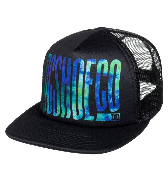 0 Men's Trippy Trucker Hat Black ADYHA03541 DC Shoes