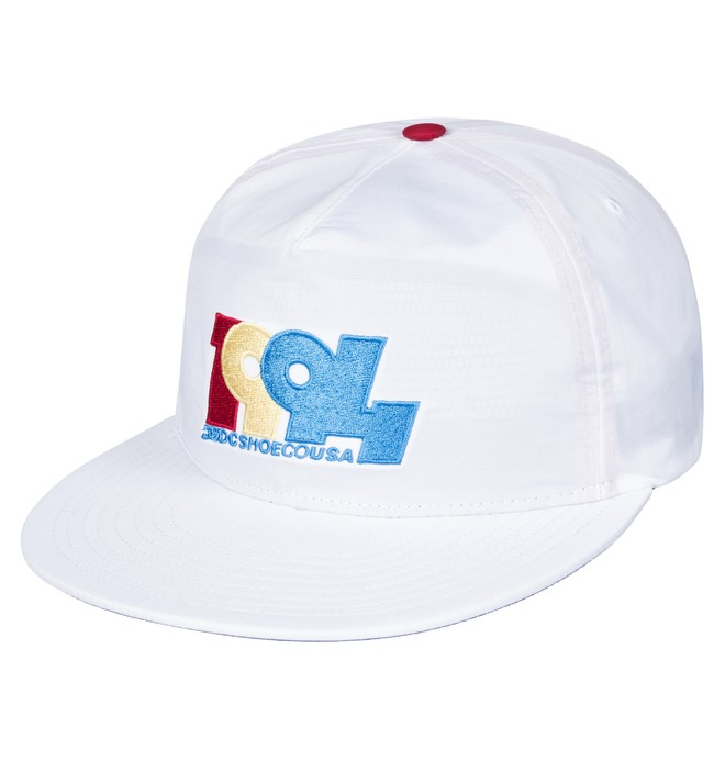 0 Men's Graduate Snapback Hat White ADYHA03559 DC Shoes