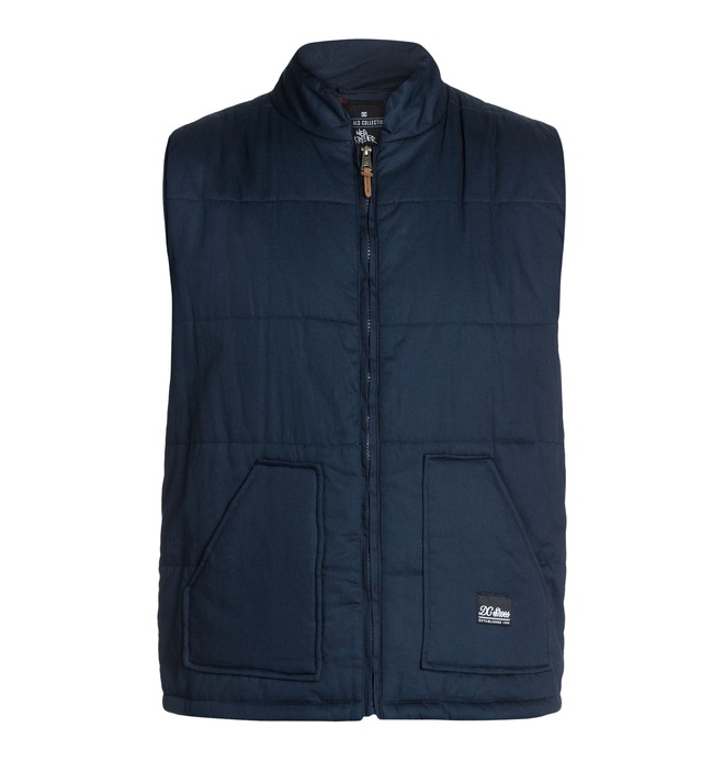 0 Men's Wes Puffs Vest Blue ADYJK03004 DC Shoes