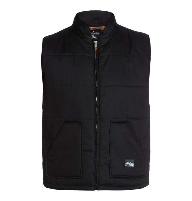 0 Men's Wes Puffs Vest Black ADYJK03004 DC Shoes