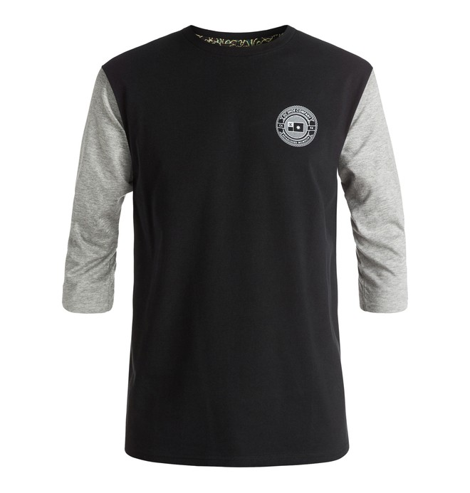 0 Men's The 3 Quarter Raglan 3/4 Sleeve Tee  ADYKT03090 DC Shoes