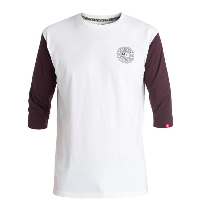 0 The 3 Quarter Raglan - 3/4 Sleeve T-shirt White ADYKT03090 DC Shoes