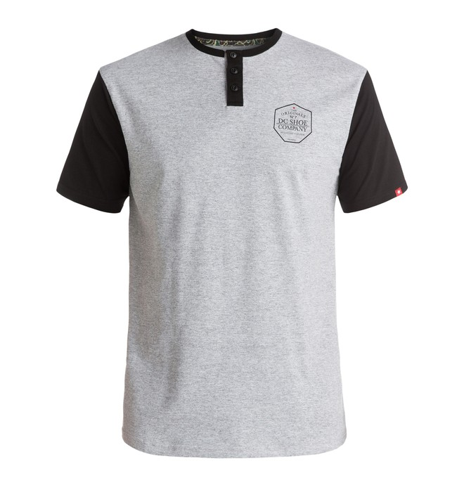 0 7 Strikes - Tee-Shirt à manches courtes et col henley  ADYKT03091 DC Shoes
