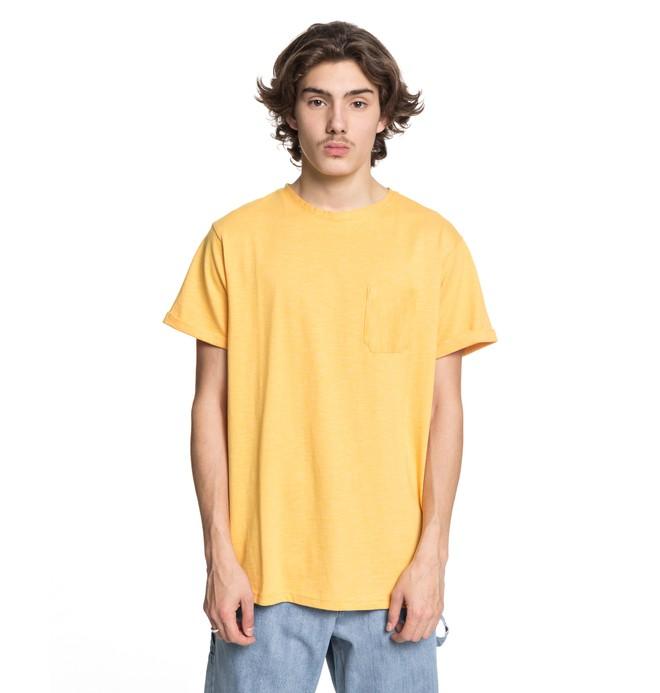 0 Men's Evan Stripe Pocket Tee Yellow ADYKT03109 DC Shoes