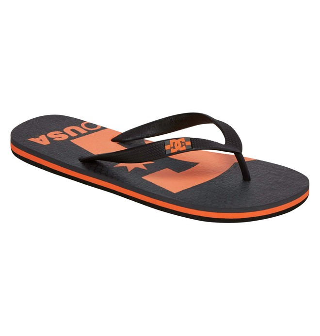0 Men's Spray Logo Sandals Grey ADYL100006 DC Shoes