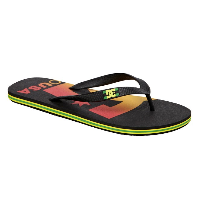 0 Men's Spray Logo Sandals Multicolor ADYL100006 DC Shoes