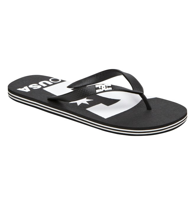 0 Men's Spray Logo Sandals Black ADYL100006 DC Shoes