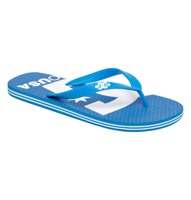 0 Men's Spray Logo Sandals Blue ADYL100006 DC Shoes