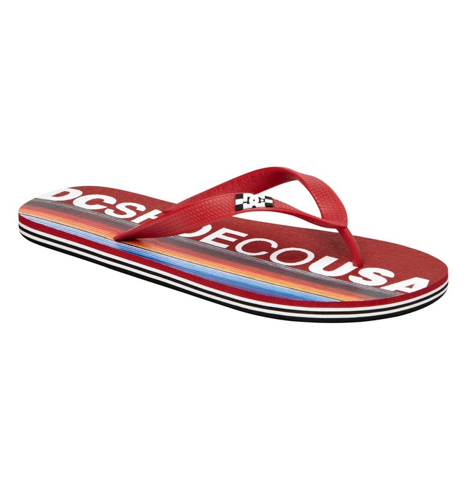 0 Men's Spray Released Sandal Red ADYL100007 DC Shoes