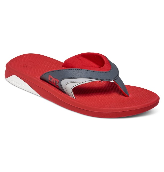 0 Men's Recoil Sandals Red ADYL100034 DC Shoes