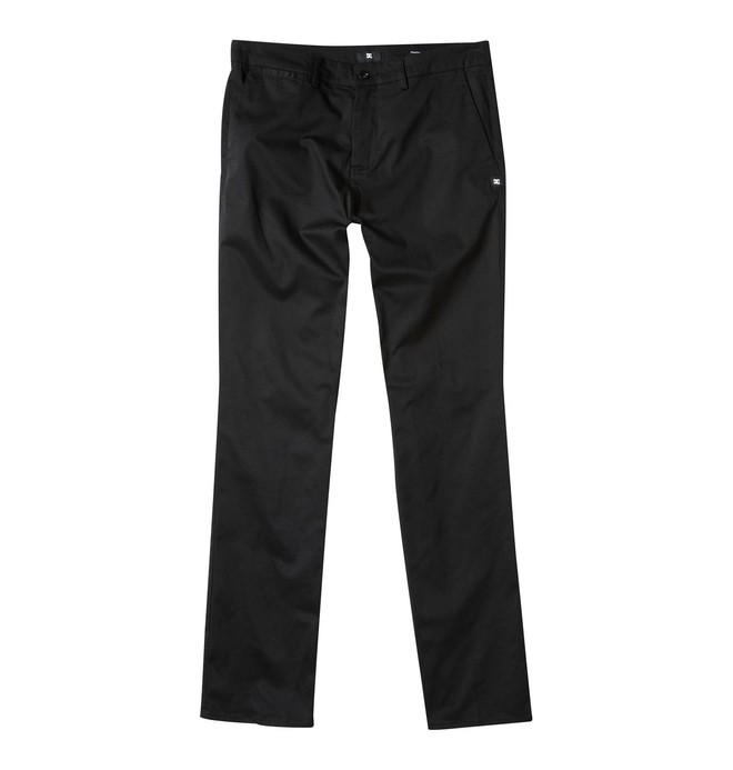 0 Men's DC Worker Straight Fit Pant Black ADYNP00001 DC Shoes