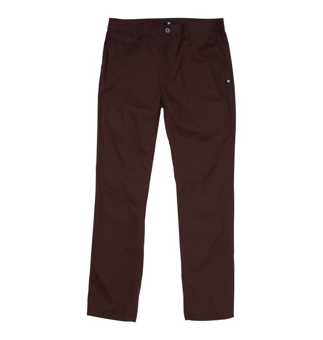 0 Men's DC Worker Straight Fit Pant Brown ADYNP00001 DC Shoes