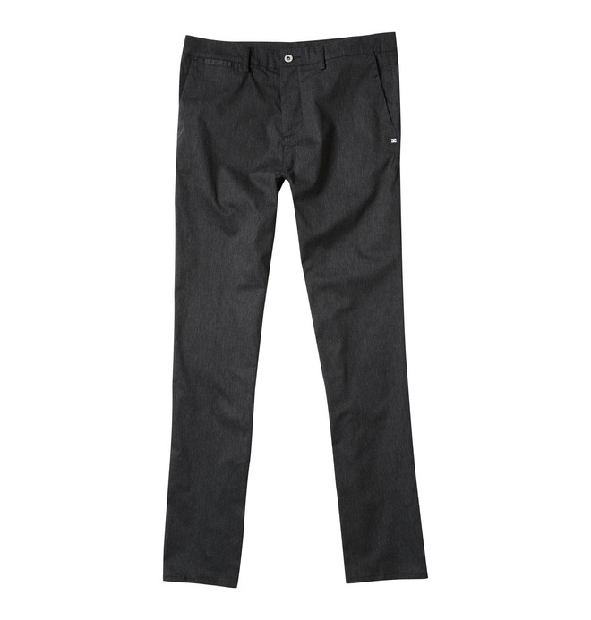 0 Men's DC Worker Straight Fit Pant Grey ADYNP00001 DC Shoes