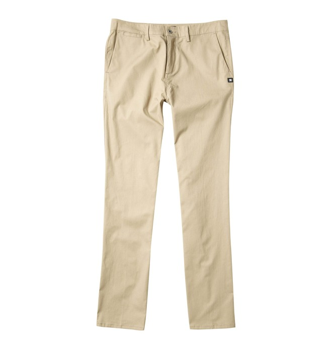 0 Men's DC Worker Straight Fit Pant Beige ADYNP00001 DC Shoes