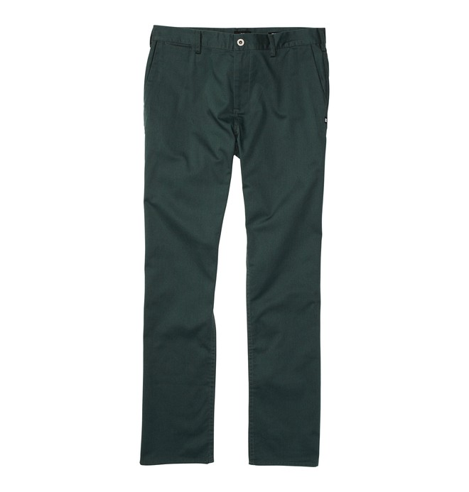0 Men's DC Worker Straight Fit Pant Green ADYNP00001 DC Shoes