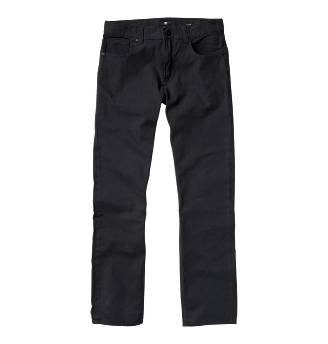 0 Men's Straight Canvas Jeans Grey ADYNP00012 DC Shoes