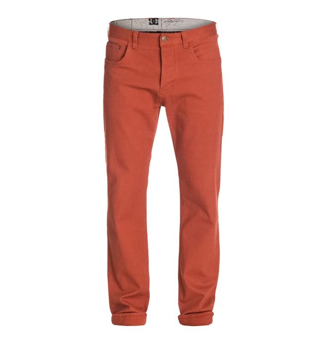 0 Men's Cult Cole Canvas Pants Orange ADYNP03011 DC Shoes