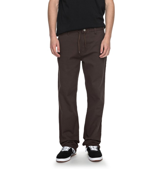 0 Wes Kremer Twill Straight - Pantalon loose Marron ADYNP03032 DC Shoes