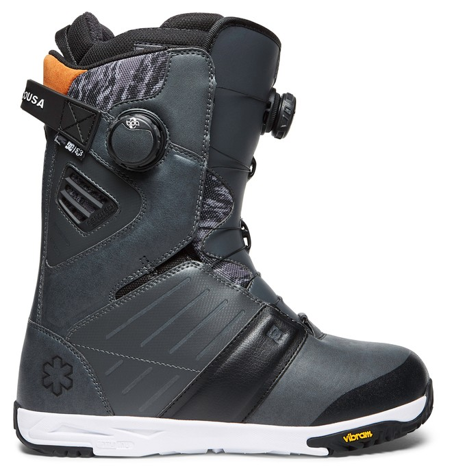0 Men's Judge BOA Snowboard Boots Grey ADYO100025 DC Shoes