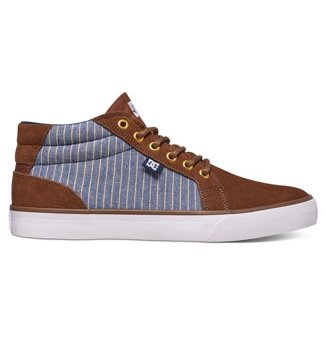 0 Men's Council SE Mid Top Shoes Brown ADYS300076 DC Shoes