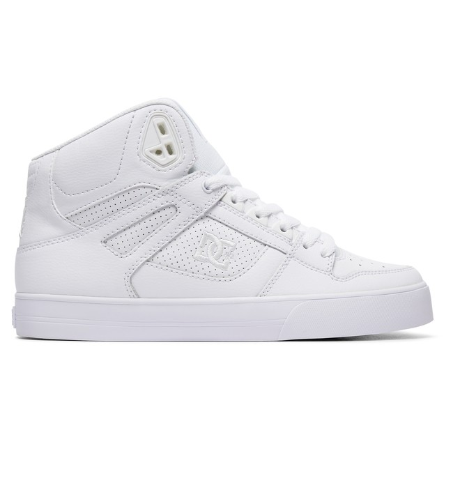 0 Men's Pure WC High Top Shoes White ADYS400043 DC Shoes