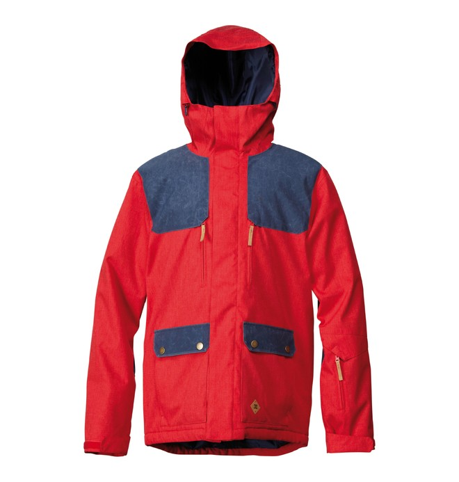 0 Men's Ranger Snowboard Jacket Red ADYTJ00008 DC Shoes