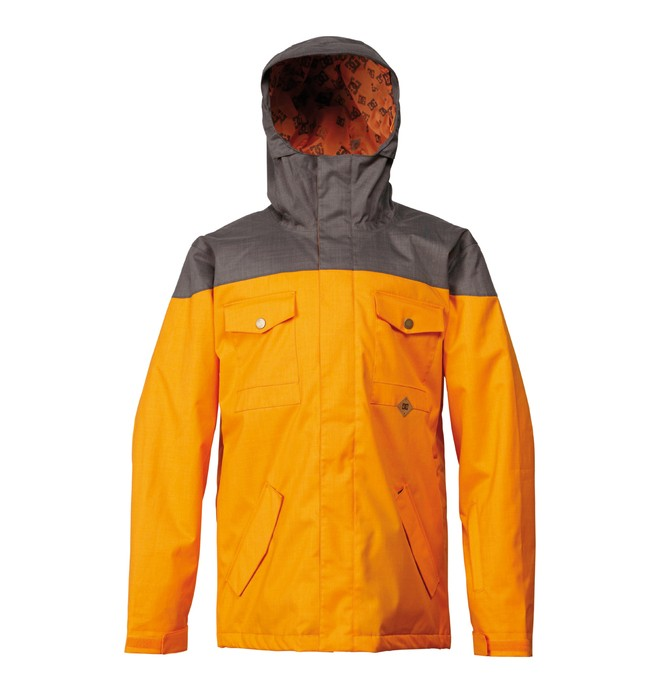 0 Men's Servo Snowboard Jacket Orange ADYTJ00009 DC Shoes