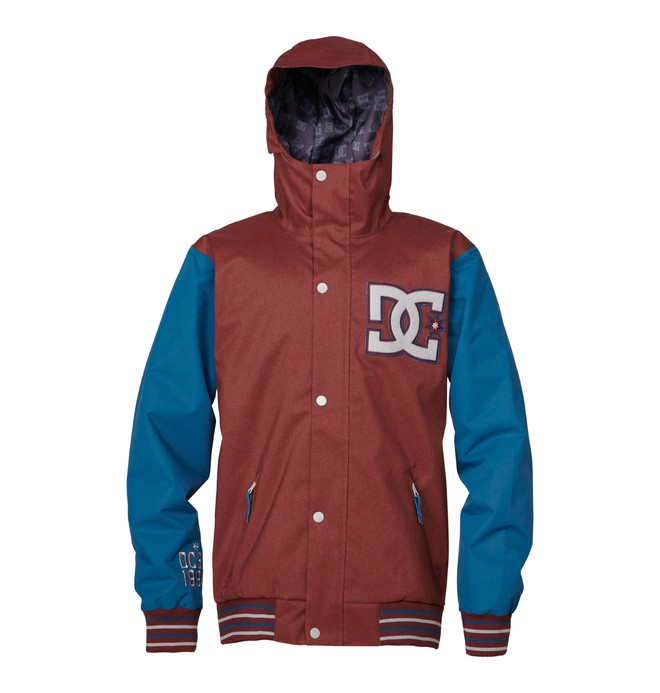0 Men's DCLA Snowboard Jacket Red ADYTJ00014 DC Shoes