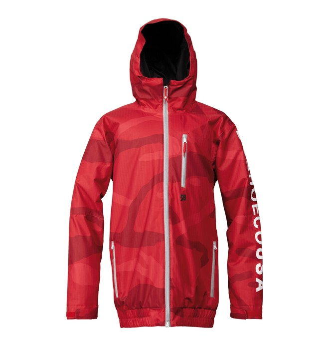 0 Men's Ripley SE Snowboard Jacket Red ADYTJ00016 DC Shoes