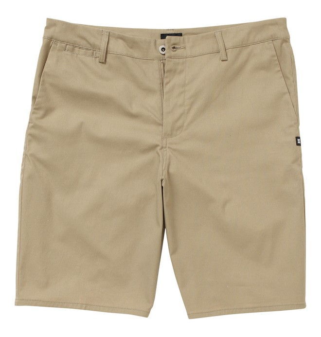 0 Men's DC Straight Fit Worker Short Beige ADYWS00015 DC Shoes