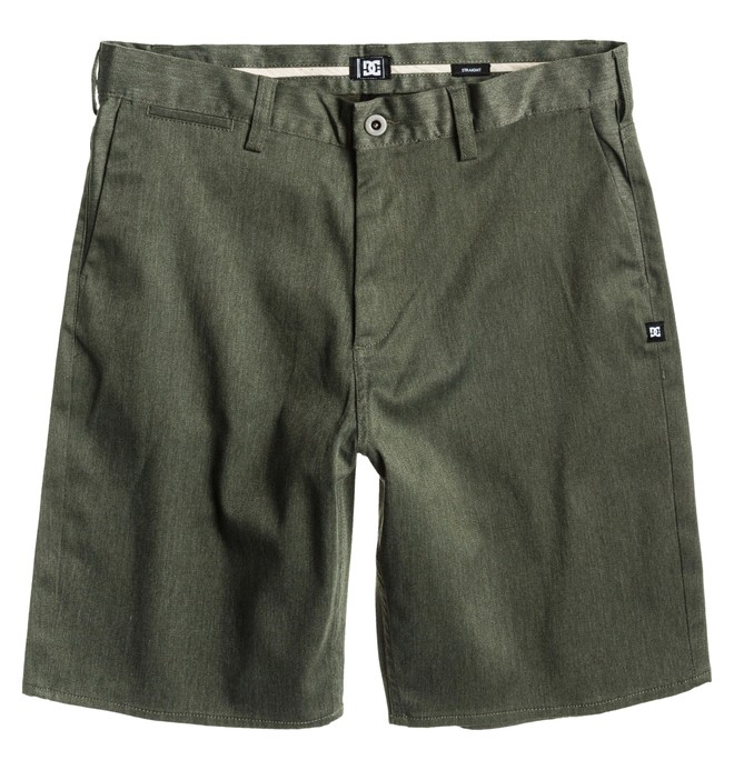 0 Men's DC Straight Fit Worker Short Brown ADYWS00015 DC Shoes