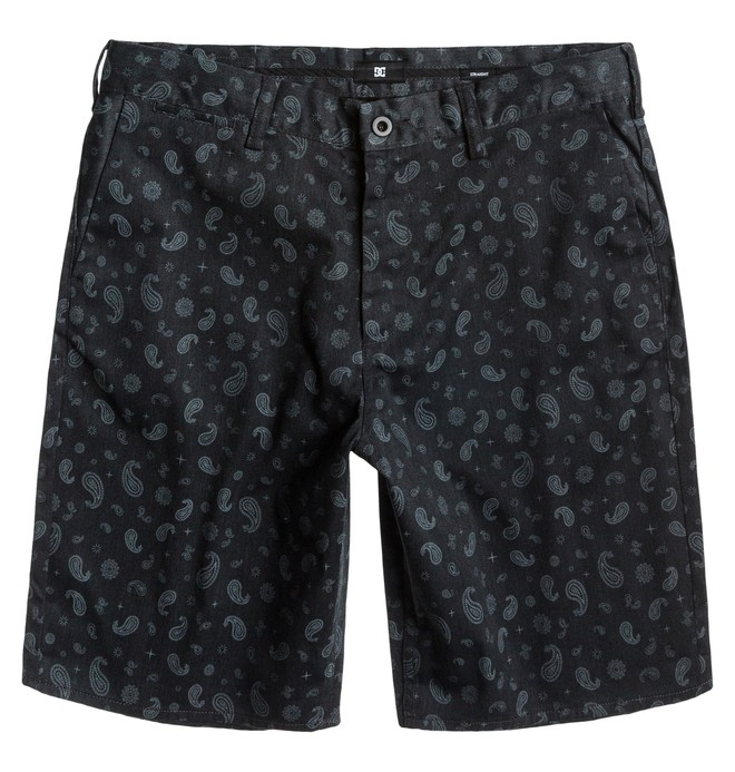 0 Men's DC Worker Straight Short Black ADYWS00063 DC Shoes