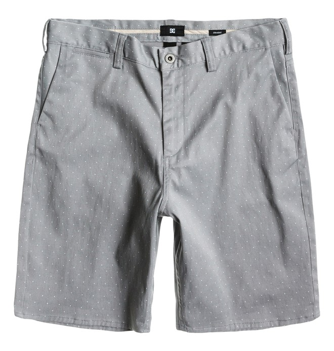 0 Men's DC Worker Straight Short Grey ADYWS00063 DC Shoes
