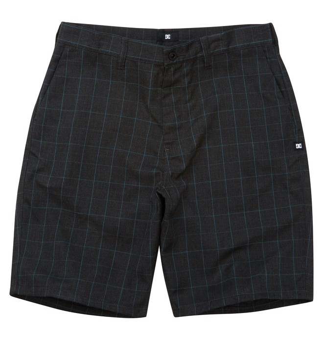 0 Men's Blank Check Walkshort Black ADYWS00067 DC Shoes