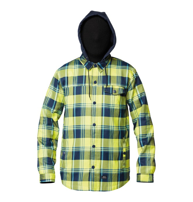 0 Men's Fernwood Button up Hoodie Blue ADYWT00021 DC Shoes
