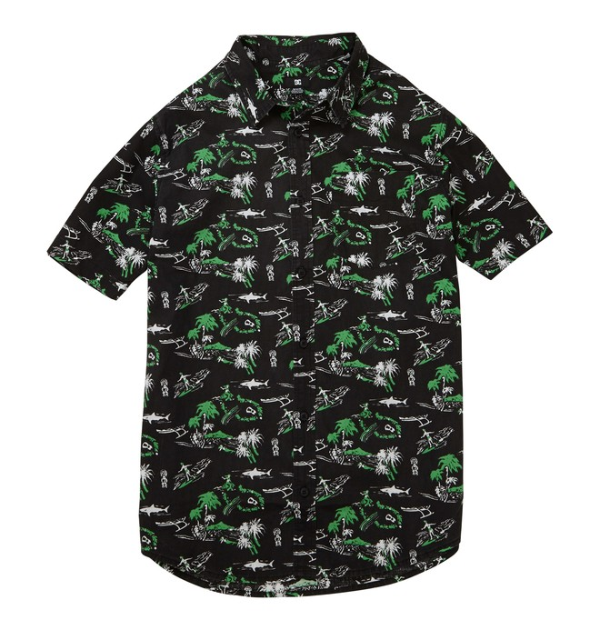 0 Men's Space Ghost SS Shirt Black ADYWT00056 DC Shoes
