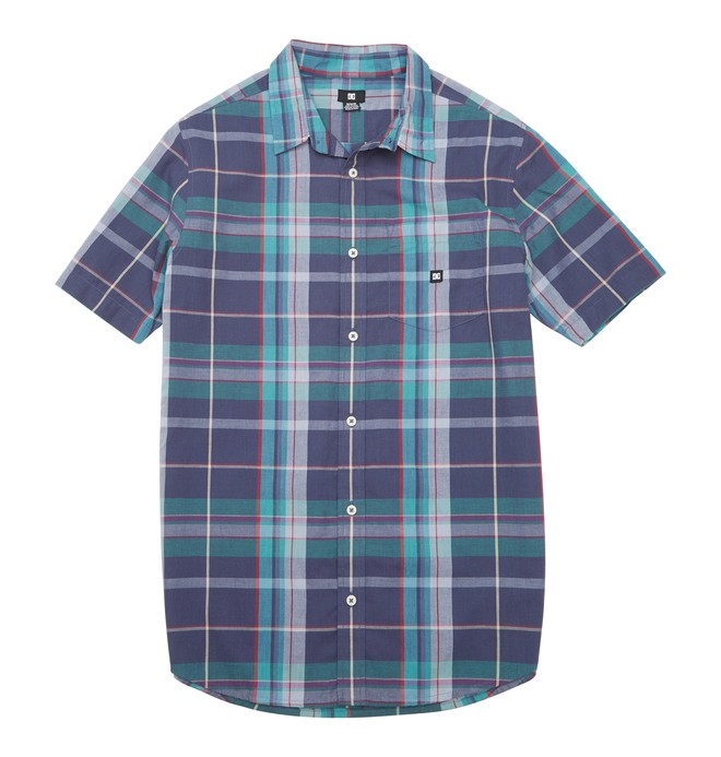 0 Men's Booker SS Shirt Blue ADYWT00065 DC Shoes