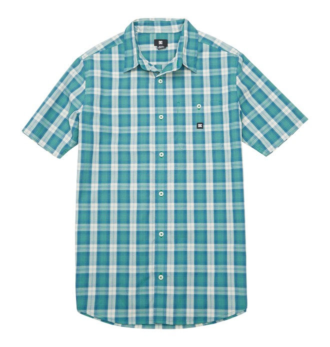0 Men's Deeps SS Shirt Green ADYWT00066 DC Shoes