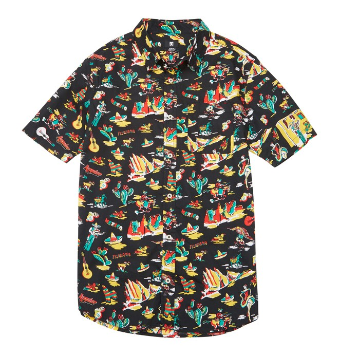 0 Men's Fiesta SS Shirt Black ADYWT00068 DC Shoes